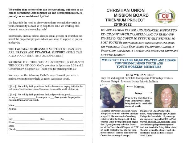 CU MISSIONS | Christian Union Witness